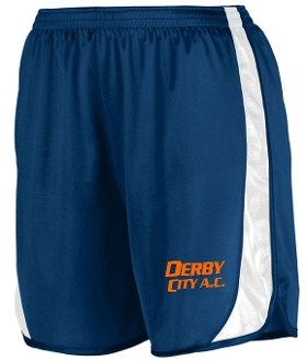 Derby City AC Navy Blue track shorts with DCAC logo Aug 327/328
