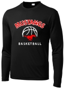 St Margaret Mary black long sleeve shooting shirt ST350LS
