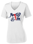 Run 4 Life ST353 LADIES CUT Moisture wicking V neck