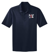 Run 4 Life Mens Navy Moisture wicking polo K540
