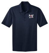 Run 4 Life TALL Navy polo TLK540