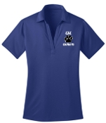 CEC Baseball Womens royal blue embroidered polo L540