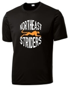NE Striders Moisture wicking Black Tshirt ST 350