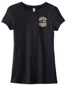 NE Striders LADIES CUT Black T shirt 6004