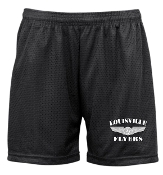 Louisville Flyers Badger 5 inch LADIES Black tricot mesh shorts
