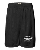 Louisville Flyers Badger 9 inch Black tricot mesh shorts