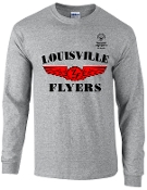 Louisville Flyers cotton long sleeve t shirt G5400