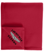 Louisville Flyers Embroidered Red Fleece stadium blanket BP60