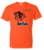 Louisville Cheetahs Orange T shirt with two color logo G8000