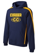 Carter Cross Country ADULT Sleeve stripe hooded sweatshirt ST265