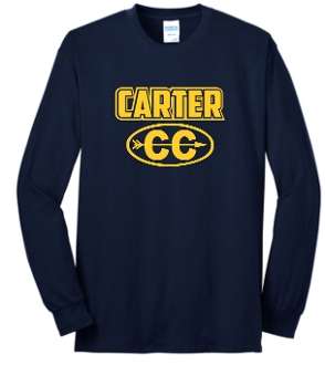 Carter Cross Country YOUTH Long sleeve NavyT shirt PC54YLS