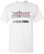 OSLS adult sized 29 Year STRONG t shirt 29M