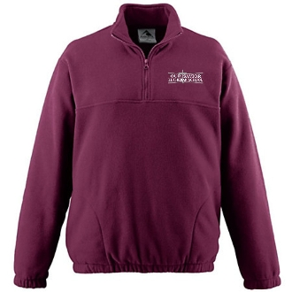 OSLS adult sized mens 1/2 zip embroidered fleece pullover 3530