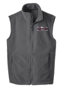 OSLS Mens Fleece full zip embroidered Vest  F219