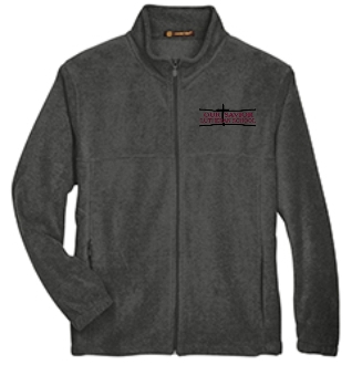 OSLS youth Charcoal Gray embroidered fleece full zip front M990Y
