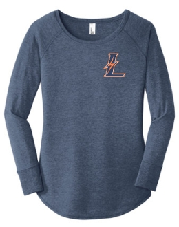 Lyndon Lightning Navy Frost Long sleeve Tunic Tee DT132L