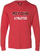 Meyzeek Athletics Heathered lightweight hoodie NL6021