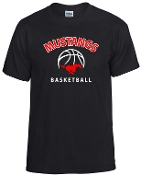 SMM Basketball Black 50/50 cotton t shirt G8000