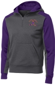 Louisville Male Alumni Purple Hooded 1/4 zip sweatshirt ST249