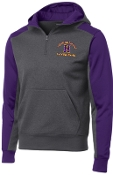 Louisville Male Alumni Hall of Fame Purple Hooded 1/4 zip  ST249